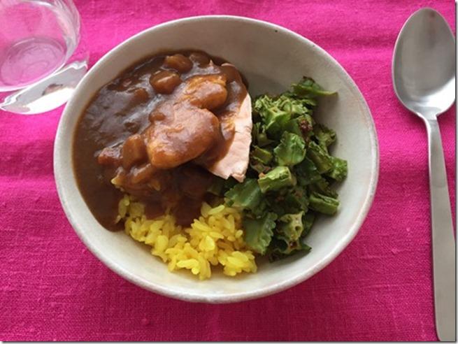 salmon curry bowl