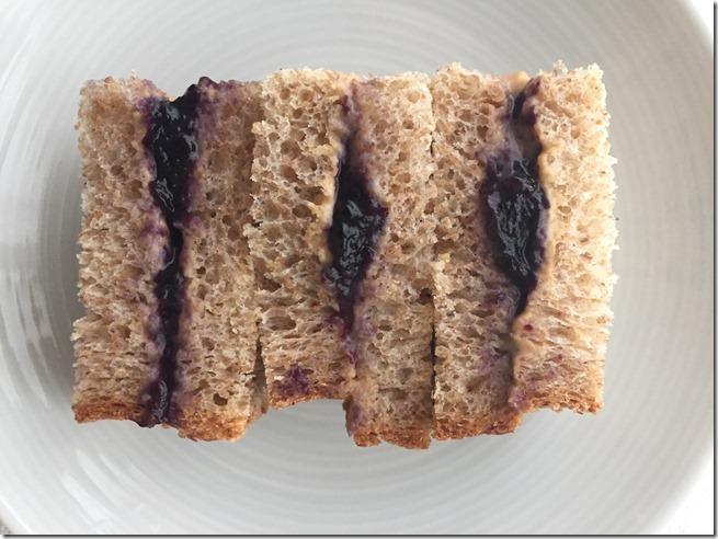 breakfast sandwich PB2 et gelly