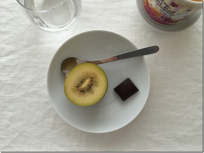fruit and dark chocolate
