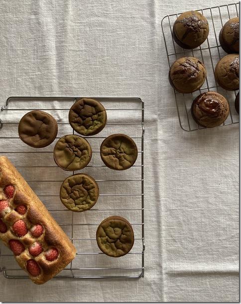 hojicha caramel mochi muffins (5)